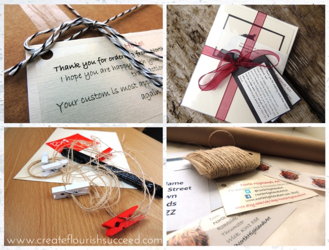 How to brand your packaging on a budget: 8 Creative tips for Etsy sellers. Use labels, ribbon and twine to spread your brand message to your packaging and display your care and attention to detail